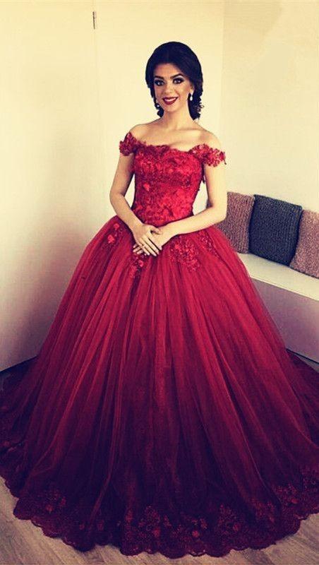 Designer Rote Abendkleider Prinzessin  Abendmoden Online