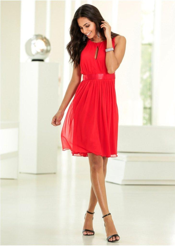 Designer Spektakulär Rotes Kleid Mit Glitzer Spezialgebiet