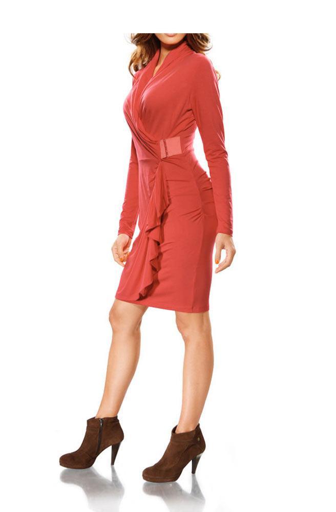 Designerkleid Koralle  Kleider  Outlet Modeshop