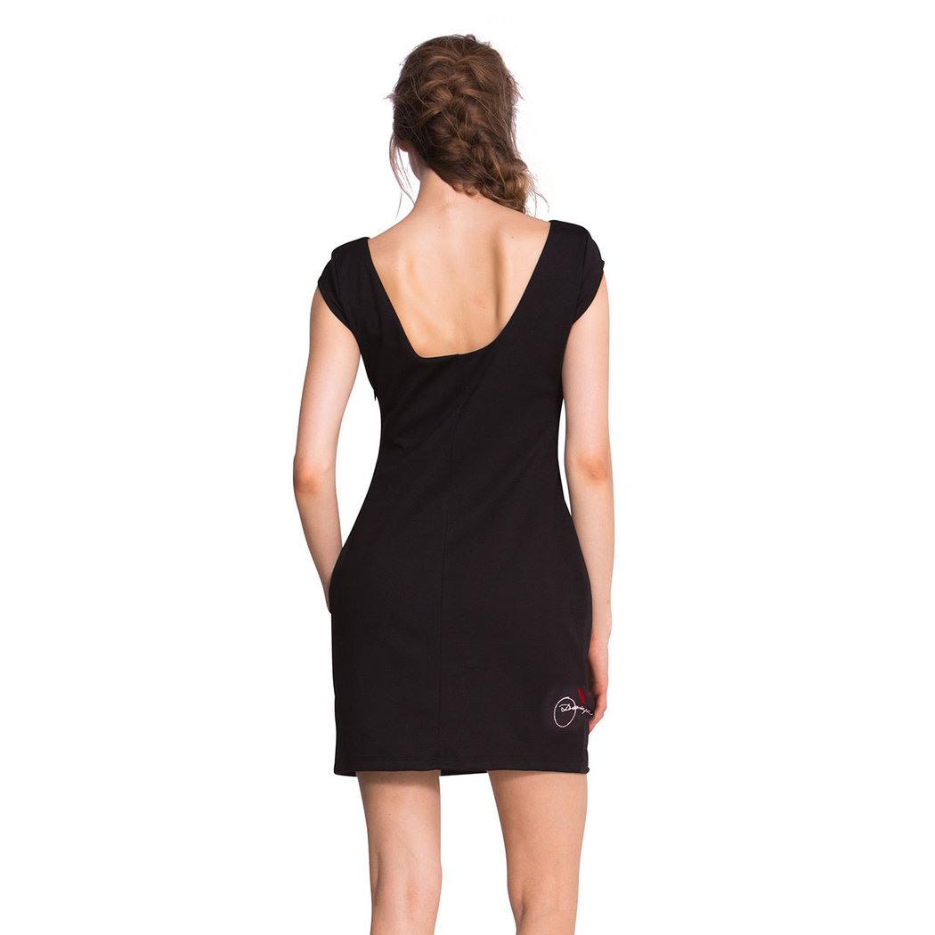 Desigual Isla Kleid Schwarz L  Born2Style Fashion Store