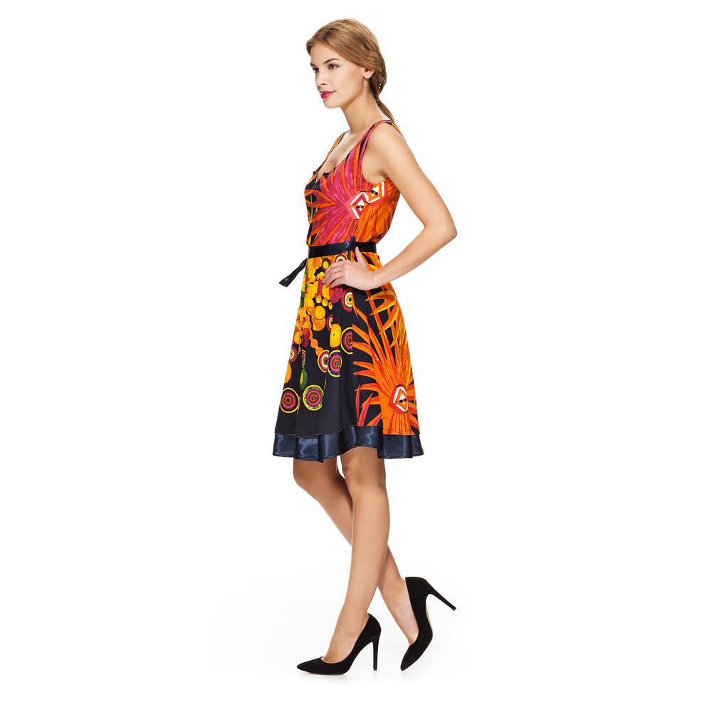 Desigual Kurzes Ärmelloses Kleid Marine  Online Kaufen