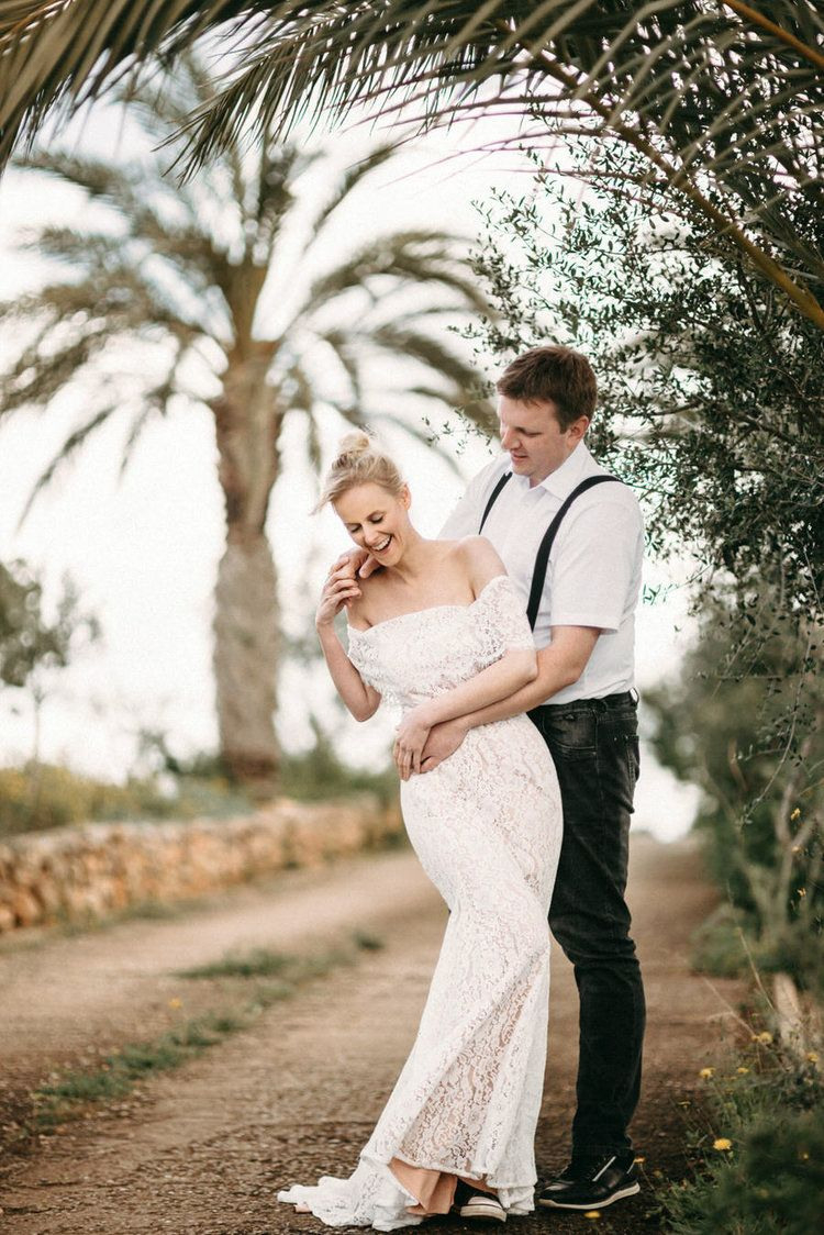 Destination Wedding Mallorca Wedding Bridal Couple