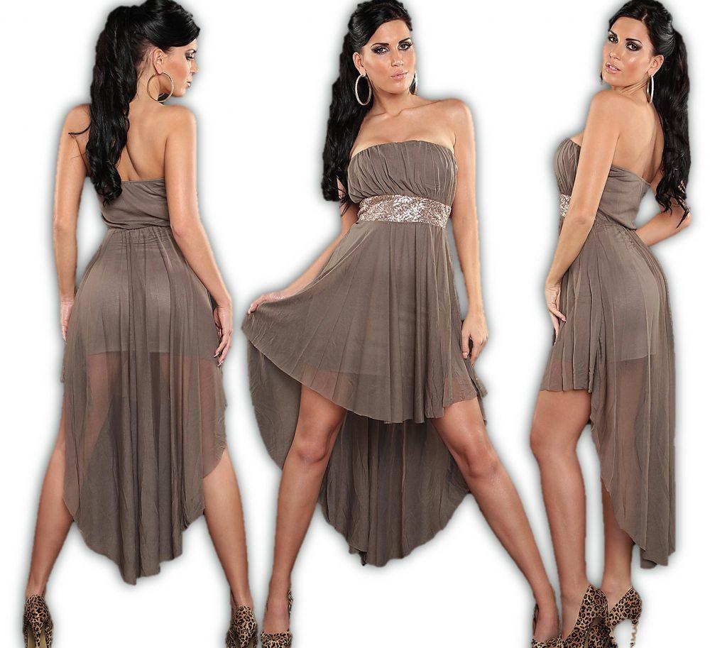 Details Zu Vokuhila Kleid Highlow Koucla Abendkleid