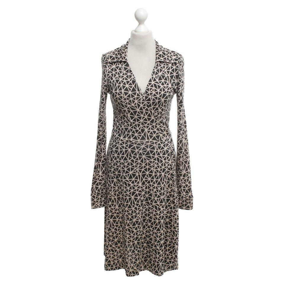 Diane Von Furstenberg Seidenkleid Mit Muster  Western