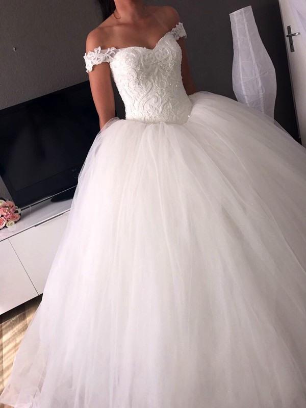 Die Besten Prinzessin Hochzeitskleid Glitzer  Beste