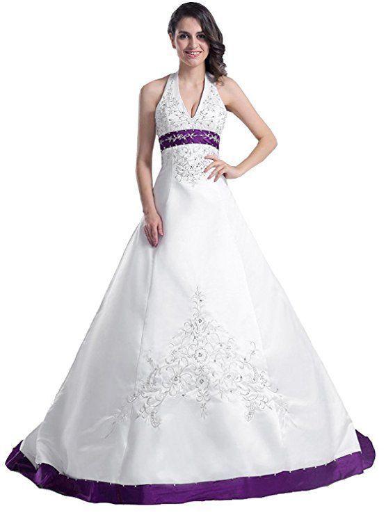 Dieses Brautkleid In Weiß Und Lila Ist Wie Ein