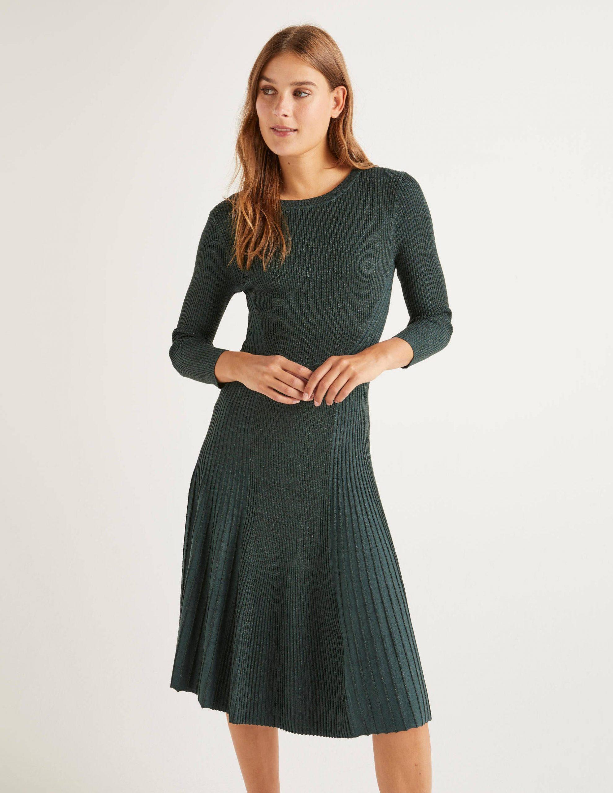 Diona Kleid Mit Glitzer  Mitternachtsgrün Glitzer  Boden De
