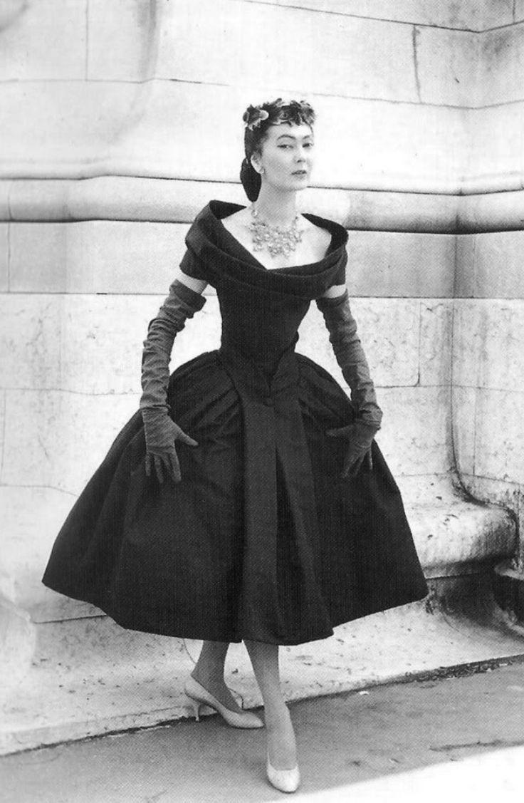 Dior Jahrgang  Modestil Vintage Outfits 50Er Jahre Mode
