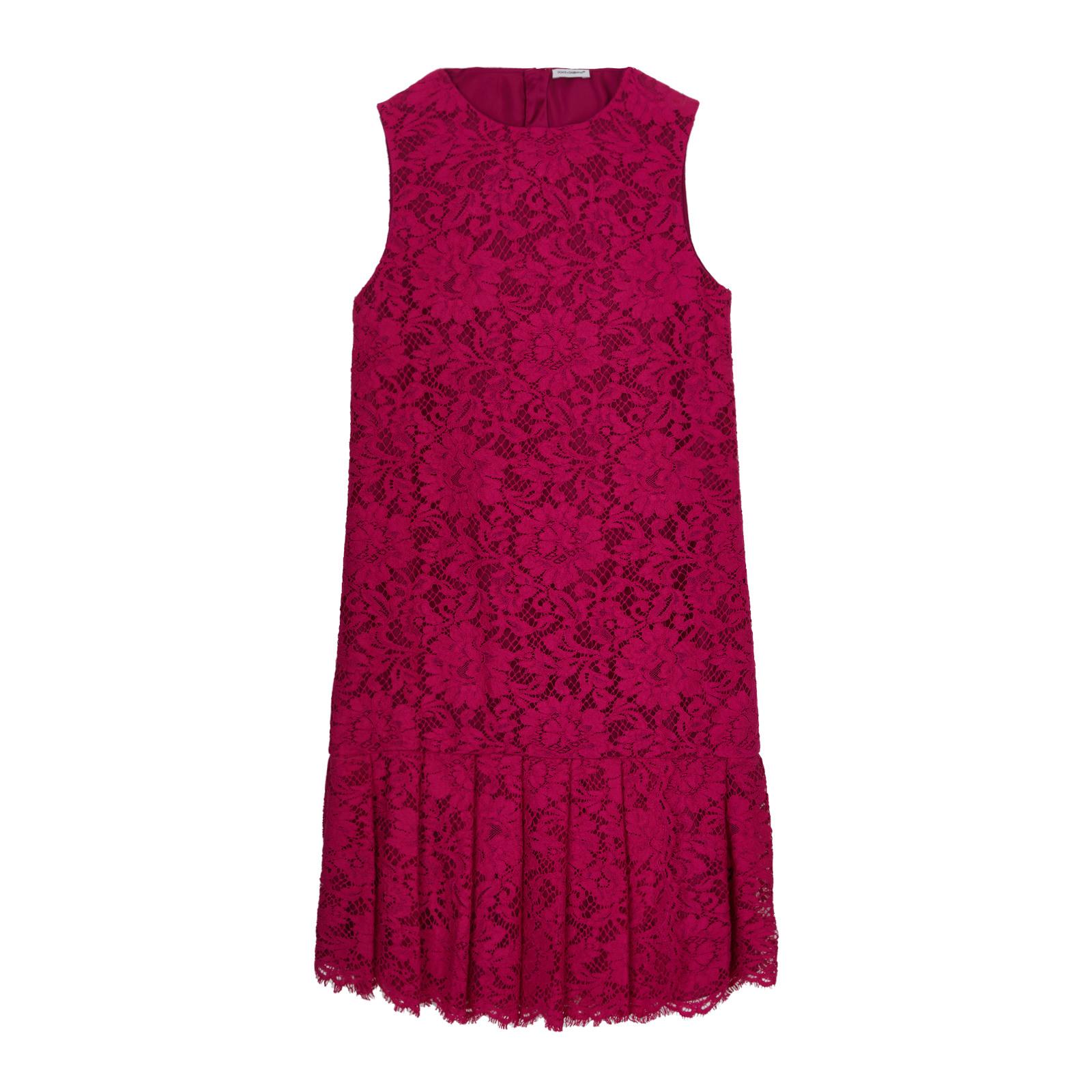 Dolce  Gabbana Einfarbiges Ärmelloses Kleid Mit Blumen