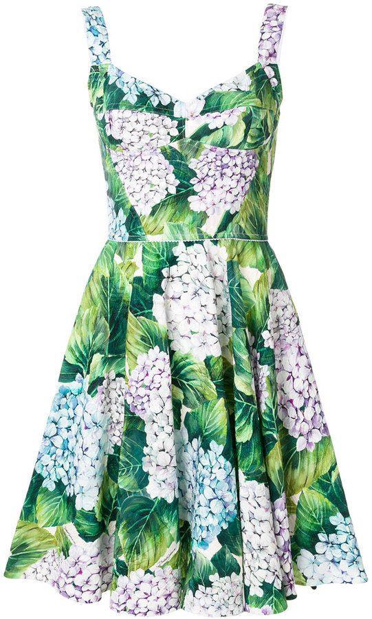 Dolce  Gabbana Kleid Mit Floralem Print  Vestidos