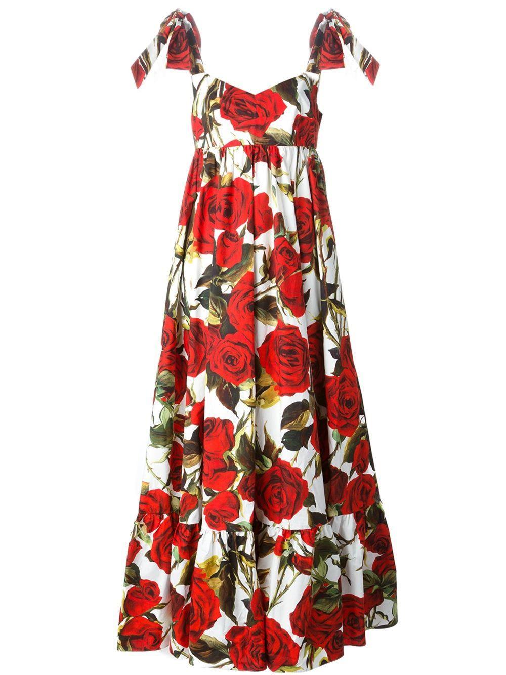 Dolce  Gabbana Lang Geschnittenes Kleid Mit Print