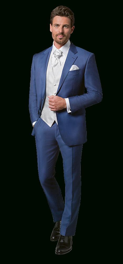 Dolzer Maßkonfektion Herren Blauer Hochzeitsanzug  Blaue