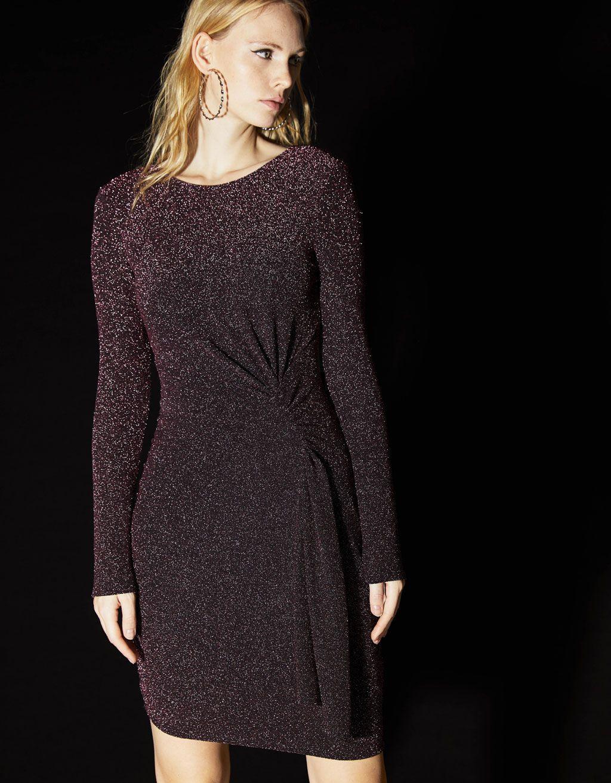 Drapiertes Kleid Mit Metalliceffekt Mit Bildern
