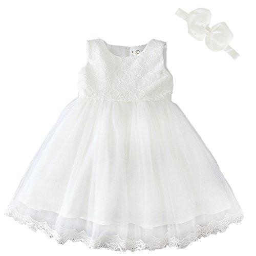Dream Rover Baby Mädchen Kleid Taufe Hochzeit Weich Kleid
