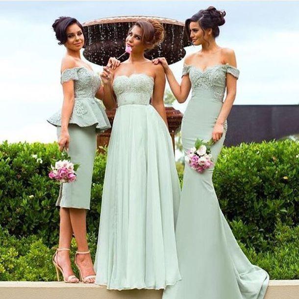 Dress Grün Abendkleider Brautjungfernkleider Lang