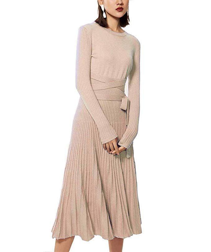 Dress Winter Fashion  Fincati Womens Midi Length Dresses