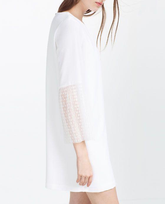 Dress Zara  Pleated Dress Womens Dresses Clothes