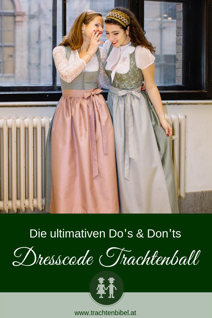 Dresscode Am Trachtenball  Kleid Hochzeit Brautjungfern