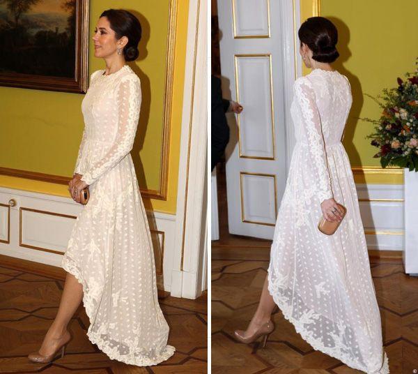 Dresssmitten Tail Hem Lace Dress From Hm  Weißes