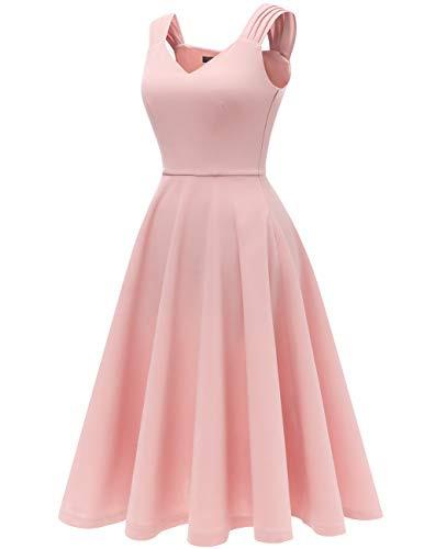 Dresstells Damen 1950Er Midi Rockabilly Kleid Vintage V