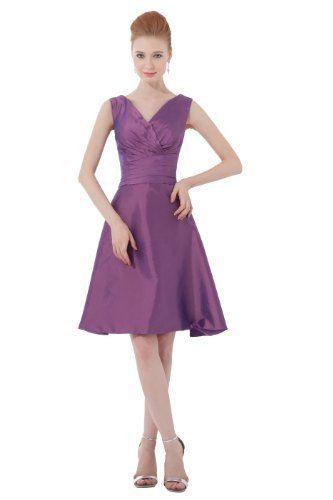 Dresstells Kurz Violett Brautjungfernkleid Ballmode Http