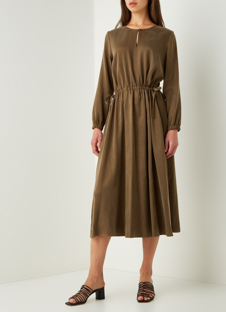 Drykorn Calsey Midi-Tunika-Kleid In Cupro-Mischung Mit