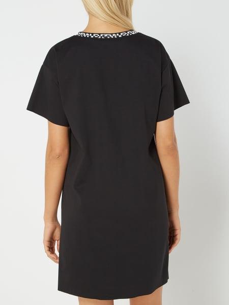 Drykorn Kleid Mit Logo Am Ausschnitt In Grau / Schwarz