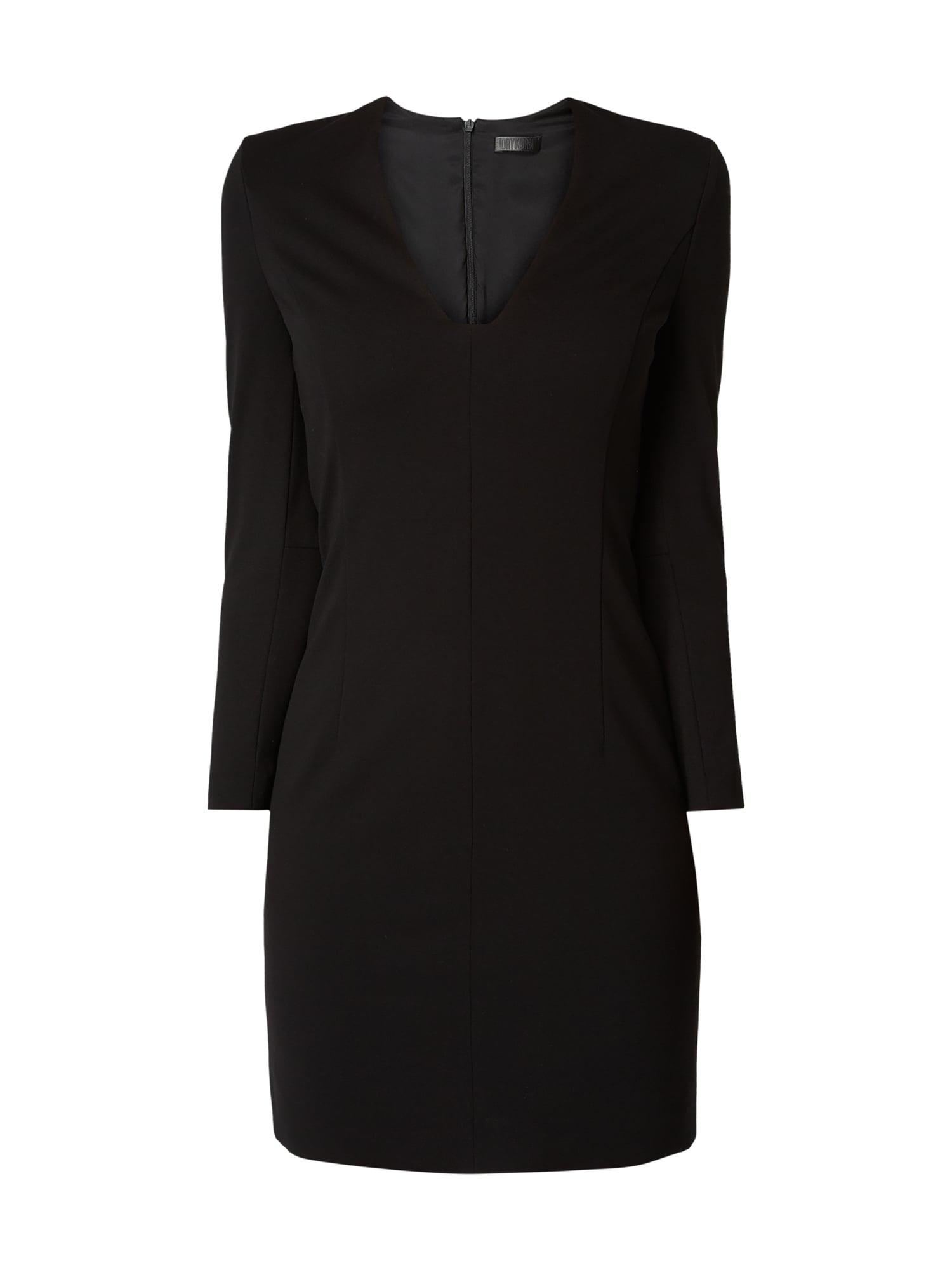 Drykorn Kleid Mit Vausschnitt In Grau / Schwarz Online