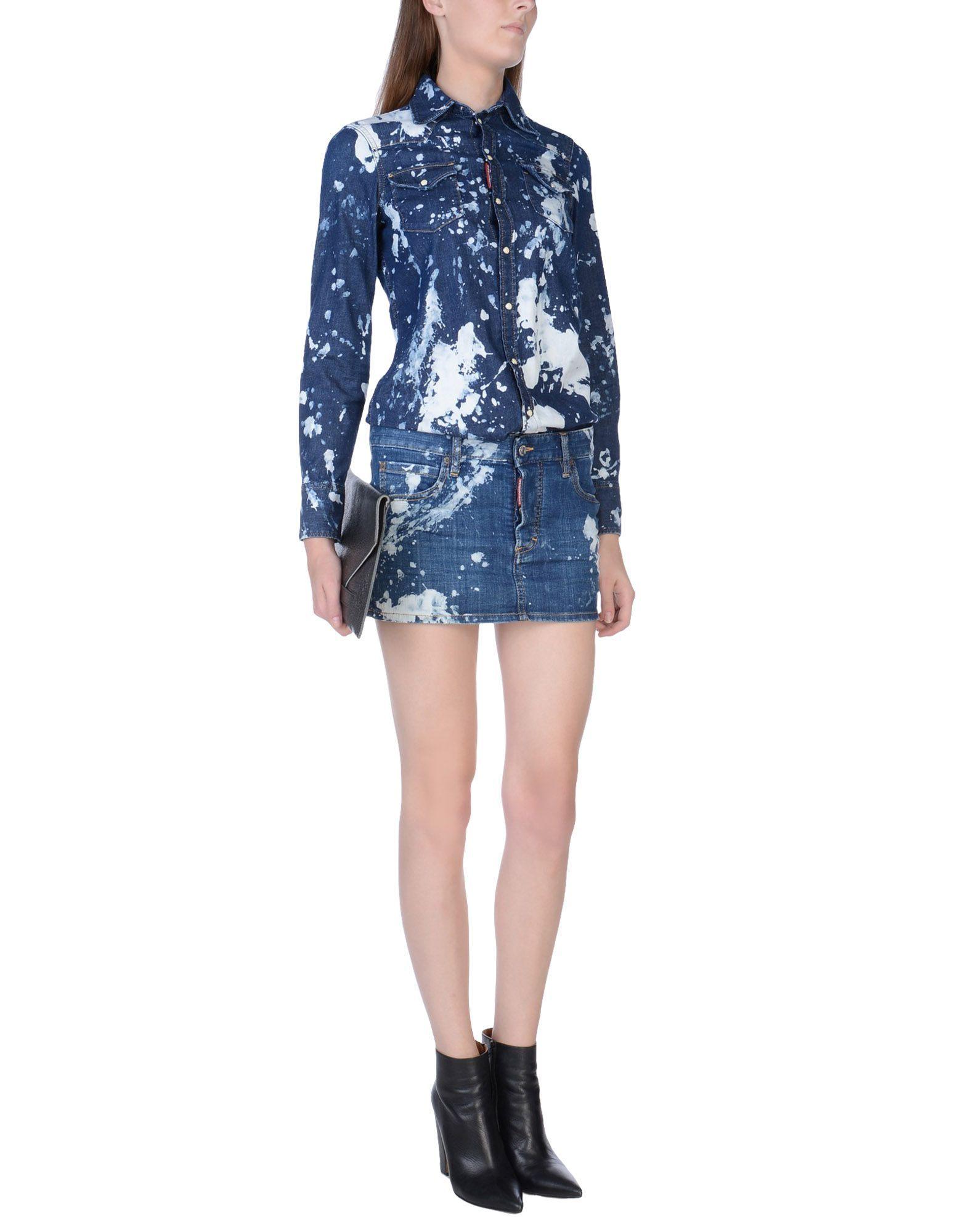 Dsquared2 Jeanskleid Damen Auf Yoox Die Beste Online