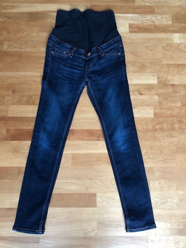 Dunkelblaue Stretch Jeans Umstandshose Umstandskleidung In