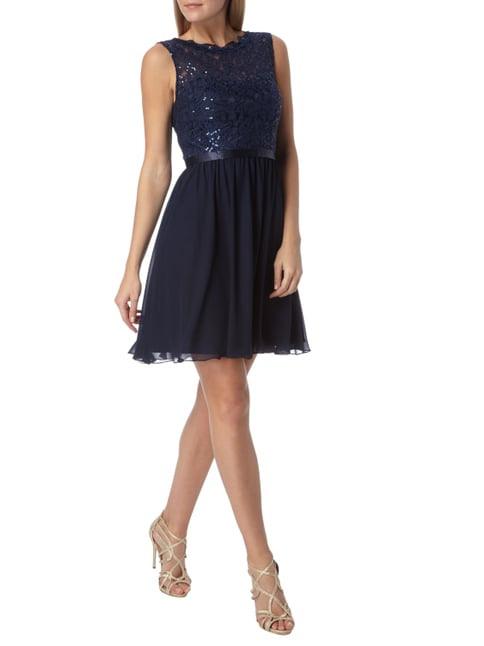 Dunkelblaues Cocktailkleid  Trendige Kleider Für Die