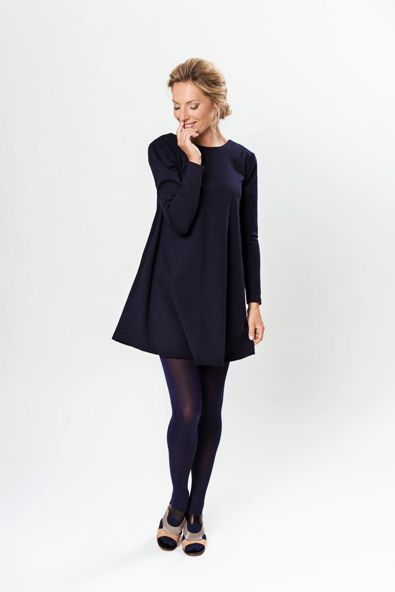 Dunkelblaues Kleid Für Frauen Tanzkleid Offenes