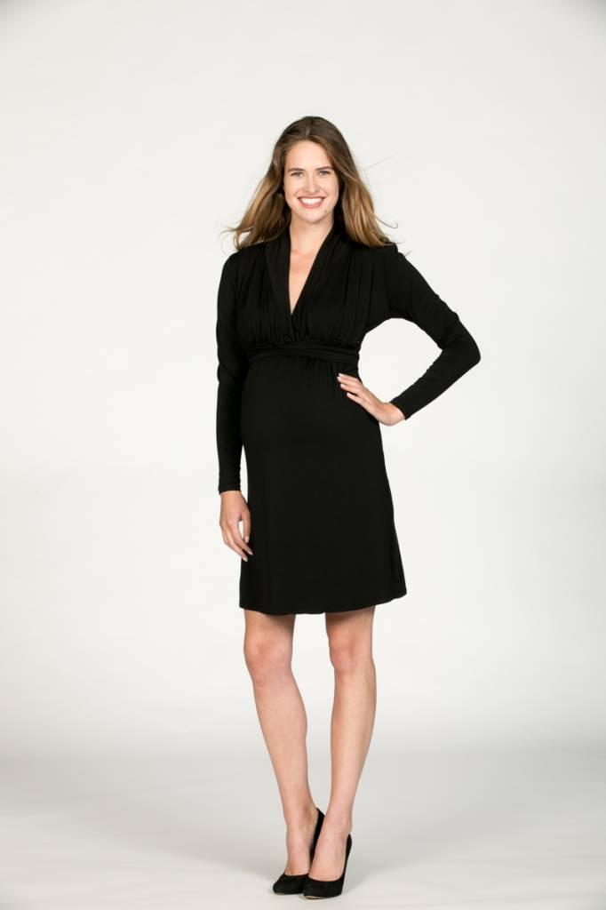 Dunkelblaues Umstandskleid Stillkleid Aus Tencel®  Momelino