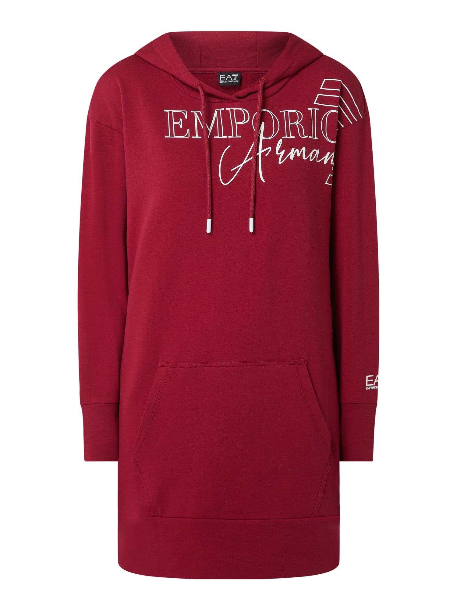 Ea7 Emporio Armani Sweatkleid Mit Kapuze In Rot Online