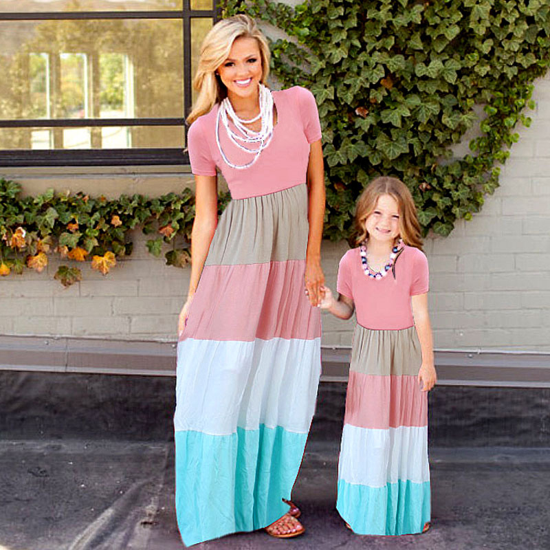 Eco Party Summer Style Family Matching Outfits Mutter