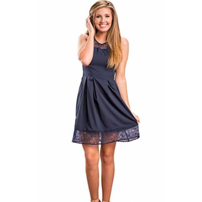 Ecowish Damen Kleid Sommerkleid Freizeitkleid Cocktailkle