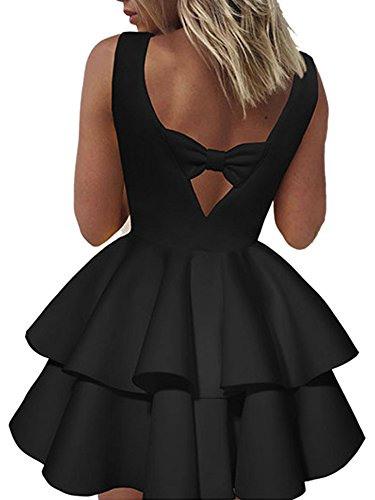 Ecowish V Ausschnitt Sommerkleid Spitzenkleid Damen