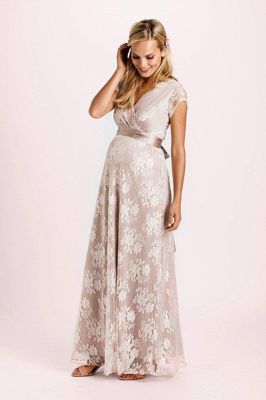 Eden Kleid Lang Rose  Lace Maternity Gown Trendy Wedding