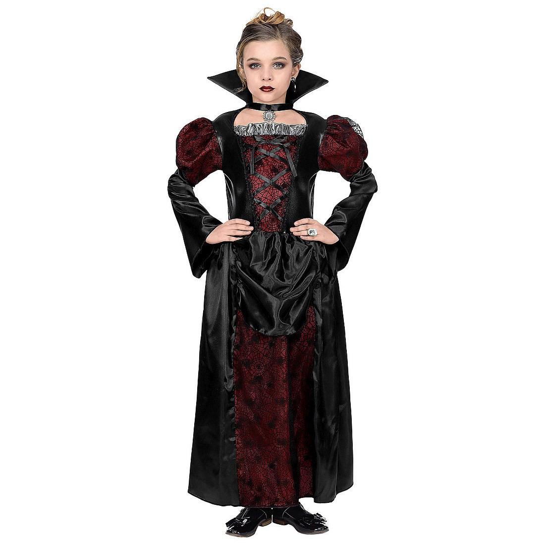 Edles Gothickleid Vampirin Mit Stehkragen Für Mädchen