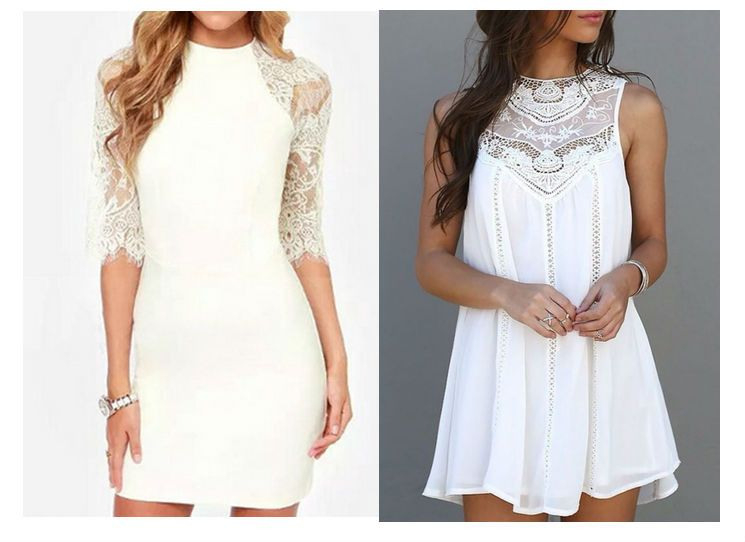 Ein Weißes Kleid Kombinieren  Kleider Weißes Kleid