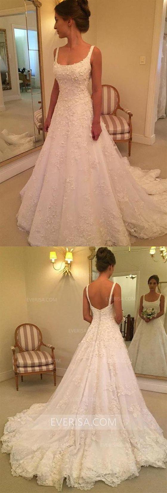 Einfache Weiße Ärmellose Rückenfreie Spitze Brautkleider