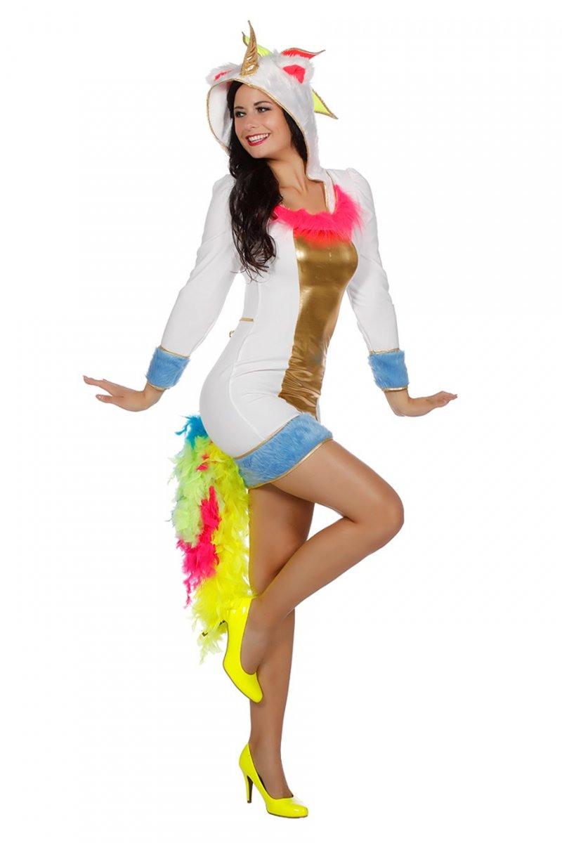 Einhorn Unicorn Kostüm Verkleidung Kleid Damenkostüm