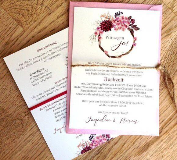 Einladung Hochzeit Text Mit Bildern  Einladung Hochzeit
