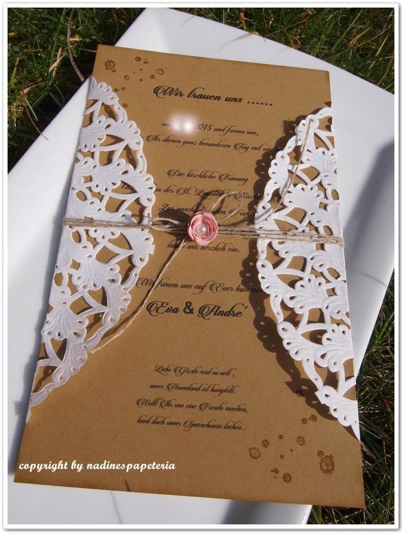 Einladung Zur Hochzeit Im Vintagestil  Hochzeitskarten