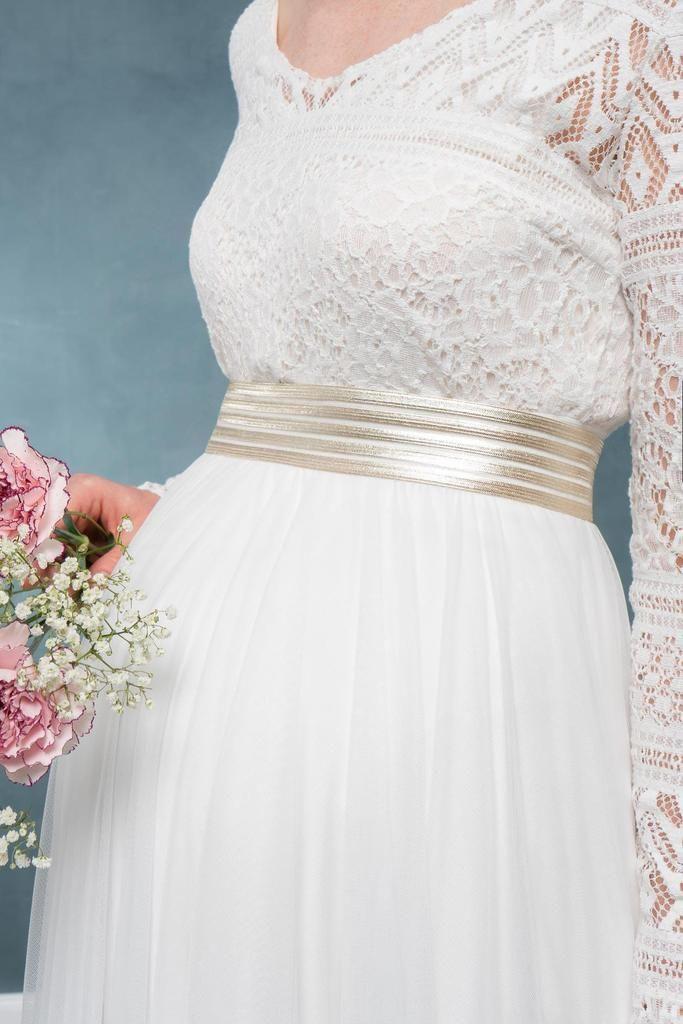Elastischer Brautgürtel In Gold  Mailenn  Braut Kleid