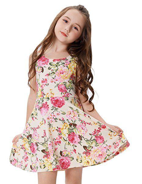Elegant Sommerkleid Blumenkleid Partykleid 6-7 Jahre