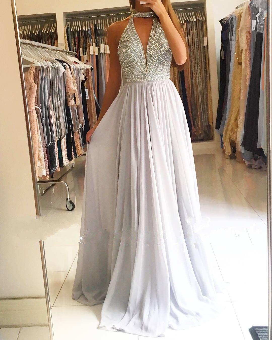 Elegante Abendkleider Lang Chiffon Abiballkleider