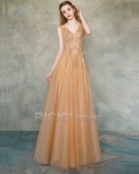 Elegante Abendkleider Lange A Linie Festliche Kleider