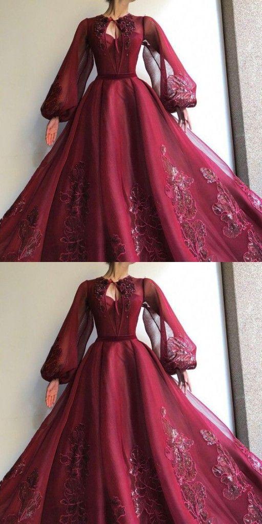 Elegante Abendkleider Mit Ärmel  Abiballkleider Lang