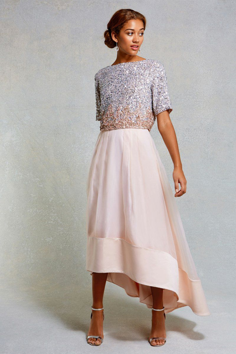 Elegante Kleider Für Hochzeit Knielang  Three Quarters